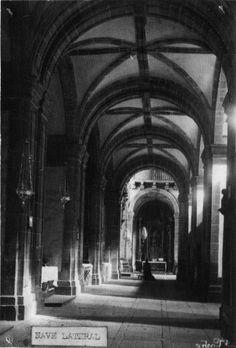 Nave lateral da igrexa do mosteiro beneditino de San Xiao e Santa Basilisa. Samos, Lugo, ca. 1900. Xelatina de prata ao clorobromuro. 16 x 11 cm.