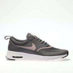 womens grey nike air max thea trainers | schuh