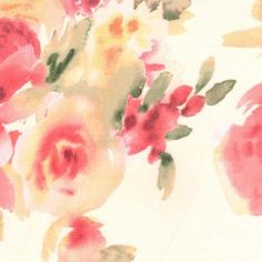 Simply Silky Prints- Floral Bouquet Peach & Pink Chiffon at Joann.com