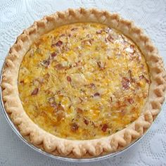 Country Quiche Allrecipes.com- This is a dish I make regularly. So easy and good