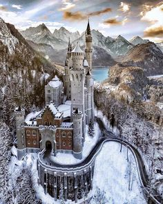 Neuschwanstein Castle This was an inspiration for Disneys Sleeping Beauty castle and its sometimes called castle. If you are planning to go to in Central The post Neuschwanstein Castle appeared first on Deneme. Beautiful Castles, Beautiful Places, Wonderful Places, Beautiful Sky, Wonderful Picture, Beautiful Buildings, Beautiful Landscapes, Places To Travel, Places To Visit
