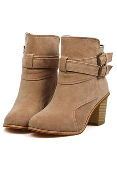 Standout Faux Suede Ankle Boots OASAP.com
