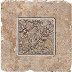 "#Interceramic - Indian Stone Desert Sand Insert Bronze 6 1/2"" x 6 1/2"""