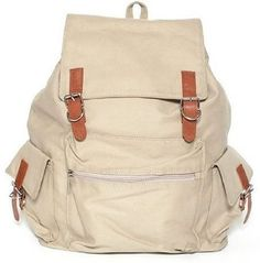 Nsstar New Vintage Ladies Canvas backpack (Off-white)