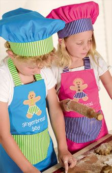 Great aprons and hats for grandkids