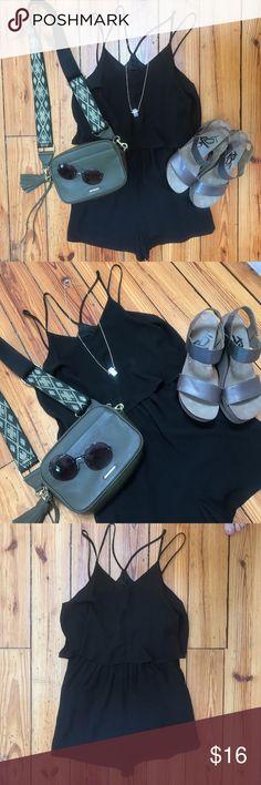 LUSH Black Size M Strappy Romper LUSH Black Size M Strappy Romper // from Nordstrom Nordstrom Dresses