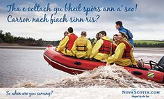 Gaelic Postcard - This looks like fun! Let's give it a try. - Nova Scotia