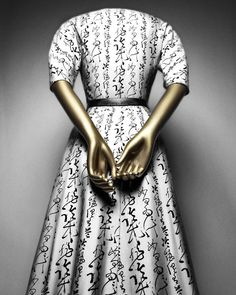 """Christian Dior (French, 1905–1957) for House of Dior (French, founded 1947) """"Quiproquo"""" cocktail dress, 1951 French Silk, leather The Metropolitan Museum of Art, New York, Gift of Mrs. Byron C. Foy, 1953 (C.I.53.40.38a–d) Photography © Platon"""