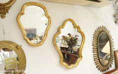 Pareja de espejos de estilo frances 11 Genoves Atelier