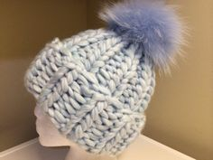 Chunky Sphere Blue Other Colors Available by HandmadeKnitsHats
