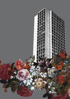 OVERGROWN HIGH-RISE - DARK GREY - #towerblock#nyc