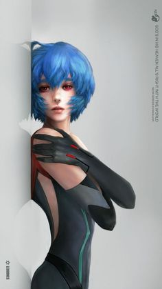 Ayanami Rei from NEON GENESIS EVANGELION ,so cool art #AyanamiRei  #NEONGENESISEVANGELION #cosplayclass