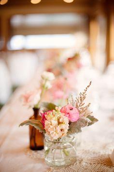 shabby chic wedding florals