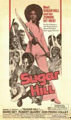 Marki Bey as Sugar Hill Horror Movie Posters, Cinema Posters, Movie Poster Art, Horror Films, Concert Posters, Black Tv Shows, Old Tv Shows, Old Movies, Vintage Movies