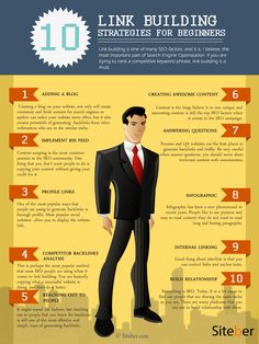 What Are Top 10 Basic Link Building Strategies For SEO? #infographic