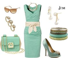 """""""Mint Green"""" by jayneann1809 ❤ liked on Polyvore"""