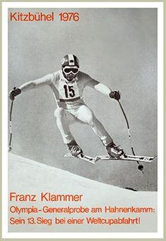 Franz Klammer Kitzbühel World Cup Ski Race 1976 Vintage Ski Poster
