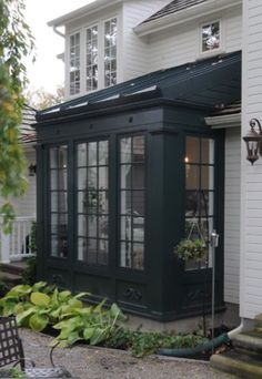 More ideas below: DIY Bay Windows Exterior Ideas Nook Bay Windows Seat and Plant… - Sunroom Windows Architecture Renovation, Architecture Details, Outdoor Rooms, Outdoor Living, Sunroom Addition, Bungalows, Exterior Design, Exterior Siding, Bay Window Exterior