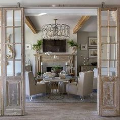 We've been on a long hunt for the perfect pair of antique French doors to conceal a wetbar in #ProjectArcadiaSouthernStyle -- and they've been ferreted out at last. We will be using them with more streamlined finishes, and I'm excited about the contrast. (Just wait till you see what's hiding behind them, too -- brilliant custom cabinetry by @ryssopeters ❤️.) Excited about this @twohawksdesigns project!