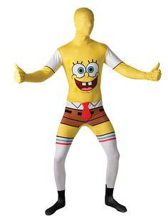 SpongeBob Second-Skin-Suit Lizenzware gelb-weiss, aus unserer Kategorie Film- & Promikostüme. SpongeBob Schwammkopf, der durchgeknallteste Einwohner von Bikini Bottom ist wieder da! Zusammen mit seinem besten Freund, dem Seestern Patrick, erlebt SpongeBob verrückte Abenteuer und treibt seinen Chef Mister Krabs in den Wahnsinn. Ein lustiges Second Skin Kostüm für Karnevalspartys und Mottopartys. #Faschingskostüm