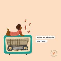 Bom dia, tudo bem? E deixe fluir o que tem de melhor aí dentro ✨💕🎼🎵🎶 gostaram? #vidailustrada #art #illustration #inspiration #music… Smile Quotes, Happy Quotes, Drawings Of Black Girls, Insta Posts, Instagram Highlight Icons, Insta Story, Cute Wallpapers, Self Love, Life Is Good