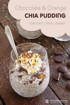 Keto Chocolate & Orange Chia Pudding (low-carb, keto, paleo)