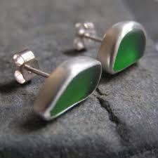 Hazel's Seaglass Jewellery - isle20 Sterling Silver Cufflinks, Sea Glass Jewelry, Jewellery, Jewels, Schmuck, Jewelry Shop, Jewlery, Jewelery