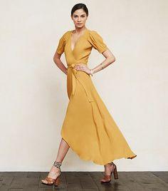 Reformation Lochness Dress in Marigold // yellow dress
