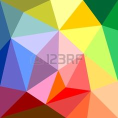 Triangle Vector Background Or Yellow, Orange, Pink, Violet, Green ...