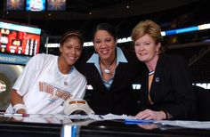 Summitt and former players, Inspirational leaders.