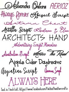 writing fonts for cricut free / writing fonts . writing fonts for cricut . writing fonts for cricut free Writing Styles Fonts, Different Writing Styles, Bubble Letter Fonts, Free Fonts For Cricut, Fancy Writing, Fancy Pens, Cricut Tutorials, Cricut Ideas, Hand Lettering