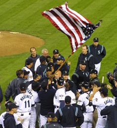 Seattle Mariners and the American Flag Baseball Movies, Go M, Ken Griffey, Star Spangled Banner, Seattle Mariners, Seahawks, Pilots, Dodgers