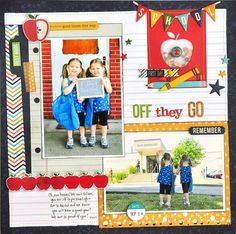 Off They Go by Jill Cornell - using SImple Stories Smarty Pants. Love it!