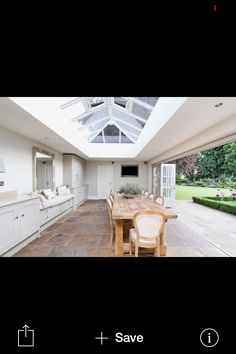 Great roof and bi fold doors.