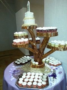 Cake / Cupcake Stand Weddings Events Cedar Wood on Etsy, $750.00