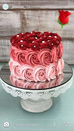 Cake Decorating Frosting, Cake Decorating Designs, Creative Cake Decorating, Cake Decorating Techniques, Creative Cakes, Red Birthday Cakes, Beautiful Birthday Cakes, Beautiful Cake Designs, Beautiful Cakes