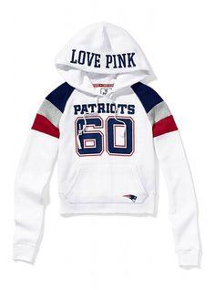New England Patriots Shrunken Pullover Hoodie - Victoria s Secret PINK® - Victoria s  Secret New England 4161ae2ed