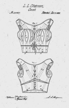 Sewing Vintage  alternative to corset 1863