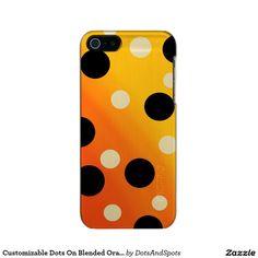 Customizable Dots On Blended OrangeToYellow Incipio Feather® Shine iPhone 5 Case