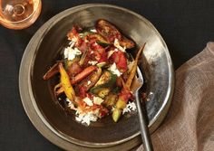 Flash-Roasted Vegetables and Rice with Chipotle Tomato Sauce- Vegetarian and Gluten-free!