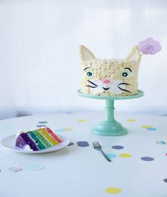 Cat-Shaped Cake