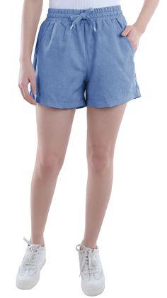 81640f263c Summer Women Girl Juniors Shorts Chambray Four-Pocket Drawstring Walking  Hot Pants Juniors