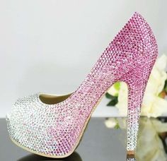Hey, I found this really awesome Etsy listing at https://www.etsy.com/listing/181921979/pinks-wedding-shoes-bling-bridal-shoes