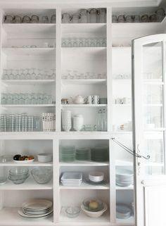 Kitchen Organization - Design Chic - love an organized kitchen cabinet and such great storage