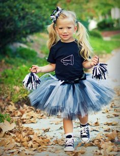 Cheer Costume-You Pick the Colors and Shirt Team. $52.00, via Etsy.