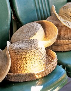 would love to just have a collection of straw hats lying around as decor, props as well as sun-safe!