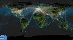 I stumbled upon interesting visualization of global connectivity patterns: 'Major road and rail networks in Africa, along with transmission line and underwater cable data. National Geospatial Intelligence Agency, International Civil Aviation Organization, Ex Machina, Sea And Ocean, Data Visualization, Image Shows, Art Google, City, Pictures