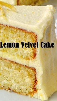 Lemon Velvet Cake The most beautiful, most delicious, newest recipes on this page. Lemon Recipes, Baking Recipes, Potato Recipes, Köstliche Desserts, Delicious Desserts, Creative Desserts, Fancy Desserts, Food Cakes, Cupcake Cakes