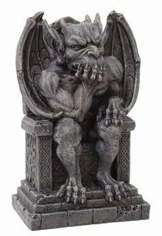 #fantasy THE THINKER Medieval Gargoyle Statue Thinking