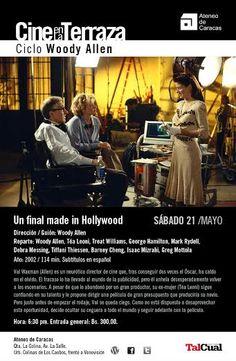 Con UN FINAL MADE IN HOLLYWOOD, el Ateneo de Caracas inicia el Ciclo de Películas de Woody Allen, el sábado 21 de mayo a las 6:30 pm